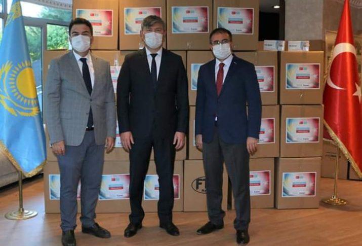 EKOAVRASYA'DAN KAZAKİSTAN'A TIBBİ MALZEME DESTEĞİ