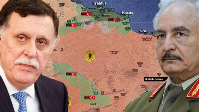 Libya Son Durum Haritası (Temmuz 2020)