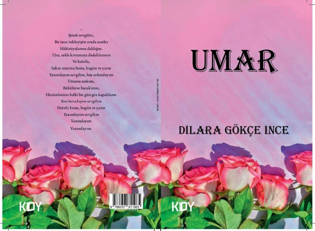 """Dilara Gökçe İnce'nin yeni şiir kitabı """"Umar"""" çıktı."""