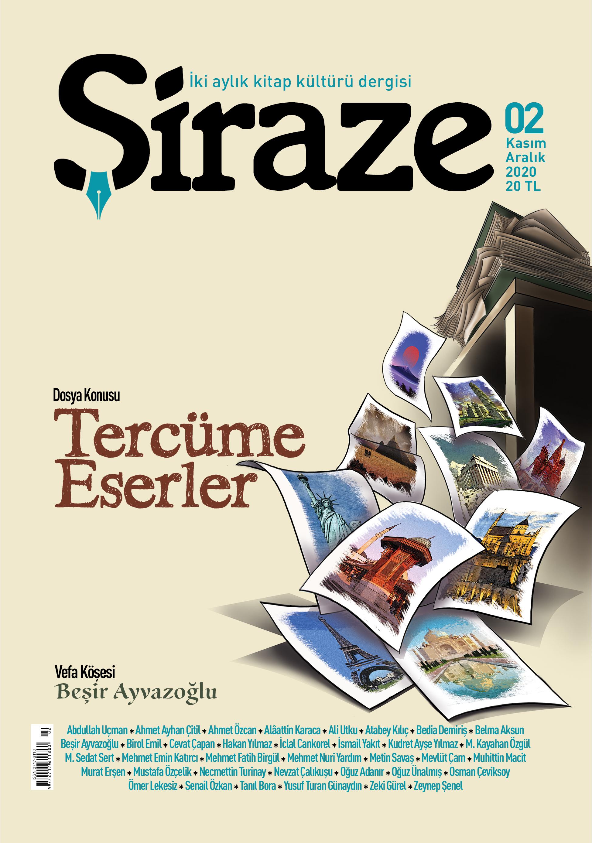 Şiraze dergisi 2. Sayısı 1 Kasım 2020'de yayımlanıyor
