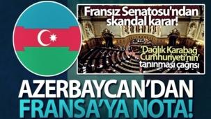 Azerbaycan Fransa'ya nota verdi!