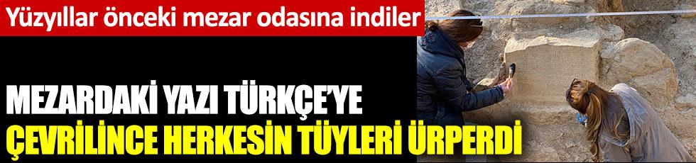 Mezardaki yazı Türkçe'ye çevrilince herkesin tüyleri ürperdi