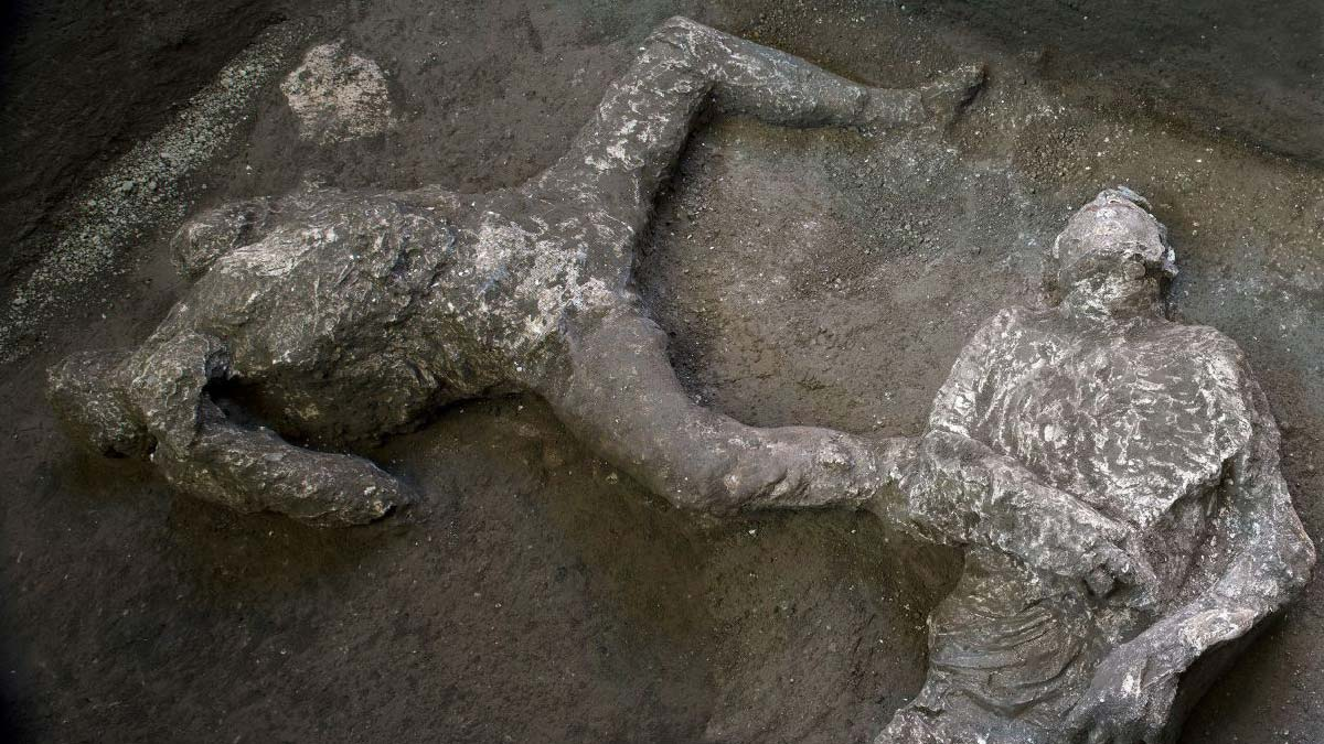 Pompeii'de küllerle kaplı, en iyi korunmuş bedenler bulundu