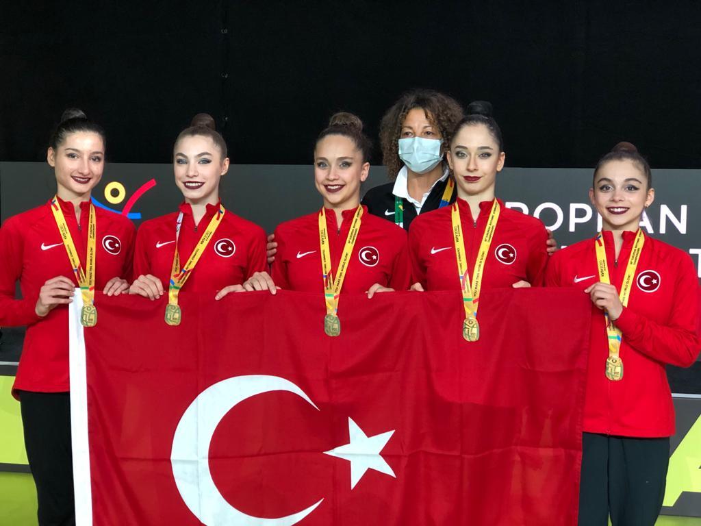 Türkiye Kadın Ritmik Jimnastik Grup Milli Takımı Avrupa Şampiyonu