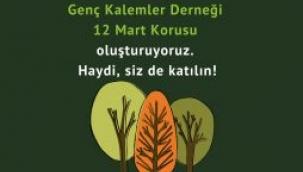 Genç Kalemler Derneği500 ağaçlık 'Genç Kalemler 12 Mart Korusu' oluşturuyor.