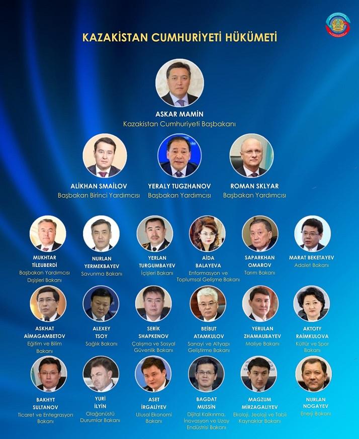Kazakistan'da yeni hükümet açıklandı