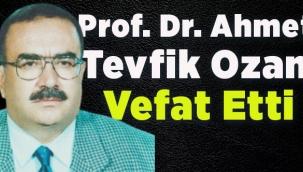 Yazar-Şair Ahmet Tevfik Ozanvefat etti