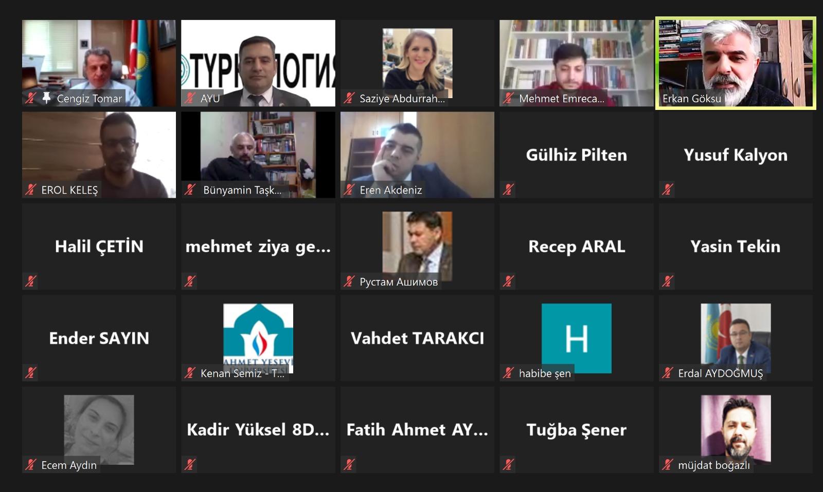 """Ahmet Yesevi Üniversitesinde """"Selçuklular Döneminde Türk Dili ve Kültürü"""" Konulu Konferans"""