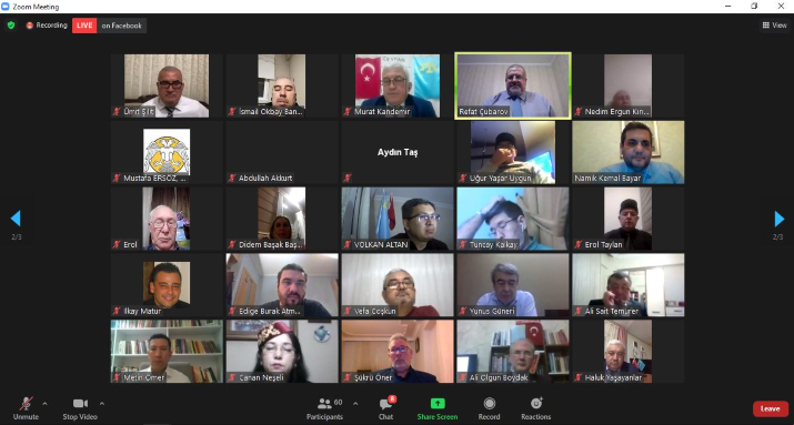 Kırım Tatar Teşkilatları Platformu'ndan Kırım'ın işgaline karşı çevrimiçi protesto etkinliği