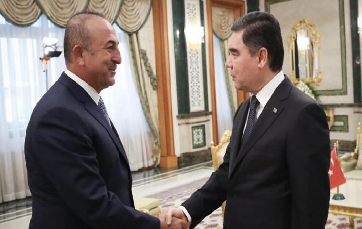 Çavuşoğlu, Orta Asya ziyaretleri kapsamındaki ilk durağı Türkmenistan'da