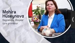 Mahira Huseynova Azerbaycan Devlet Pedagoji Üniversitesi (ADPU)Rektör Yardımcısı olarak atandı