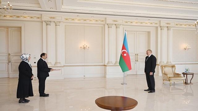 Türkiye'nin Bakü Büyükelçisi Bağcı, Aliyev'e güven mektubunu takdim etti