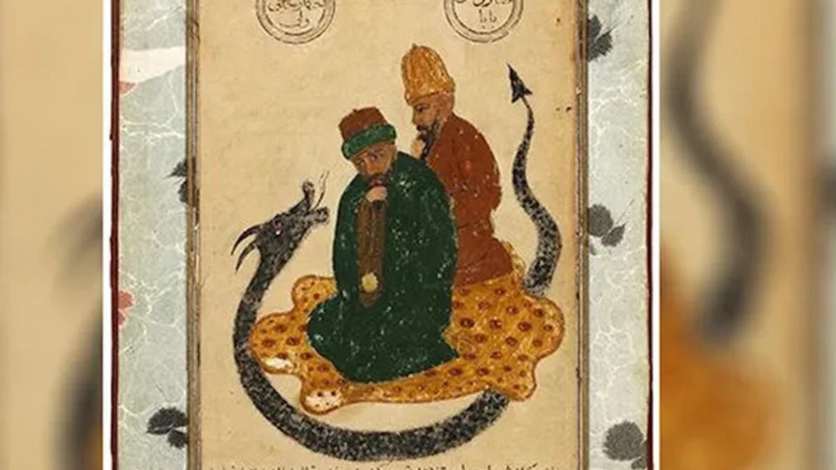 Hacı Bektaş-ı Veli'nin portesi Türk alıcıda