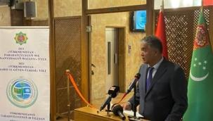 """""""Türkmenistan kültür, sanat ve fotoğraf sergisi"""" Ankara'da Milli Kütüphane'de açıldı."""