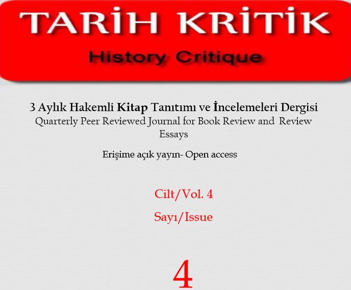 Tarih Kritik Dergisinin 4. Sayısı