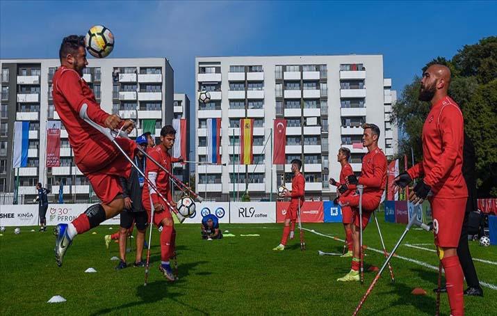 Türkiye Ampute Milli Futbol Takımı, Avrupa Şampiyonası'nda çeyrek finalde