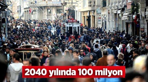 2040 yılında Türkiye nüfusu