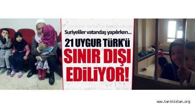21 Doğu Türkistan Türk'ü sınır dışı ediliyor