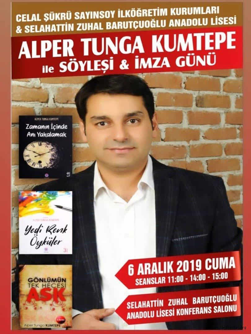 Alper Tunga Kumtepe'den Alaşehir'de Söyleşi ve İmza Günü