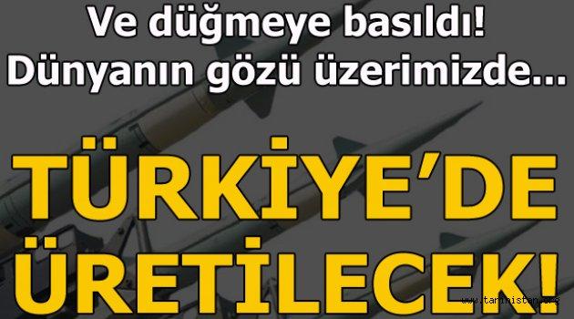 Artık Türkiye'de üretilecek