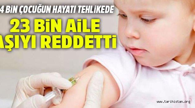 Aşı yaptırmayan 23 bin aile