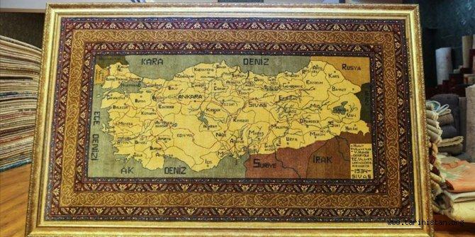 Atatürk için dokunan halı satışta