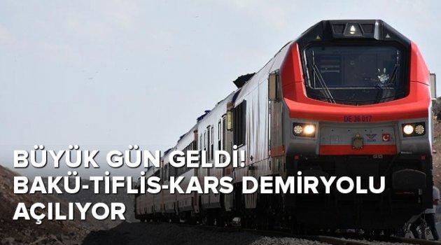Büyük gün geldi! Bakü-Tiflis-Kars Demiryolu açılıyor