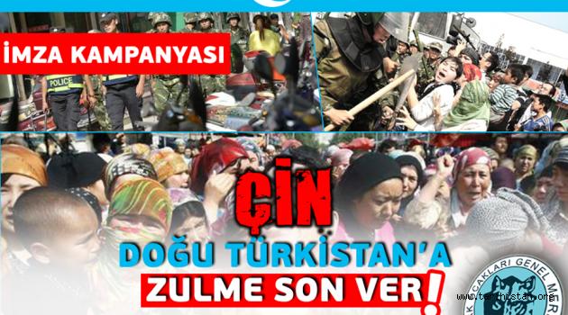 Çin, Doğu Türkistan'a Zulme Son Ver!
