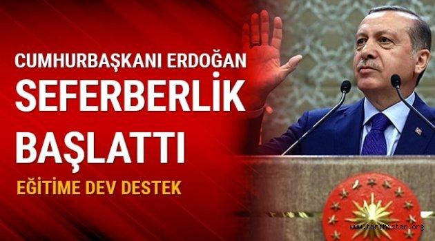 Cumhurbaşkanı Erdoğan, okuma-yazma seferberliği başlattı