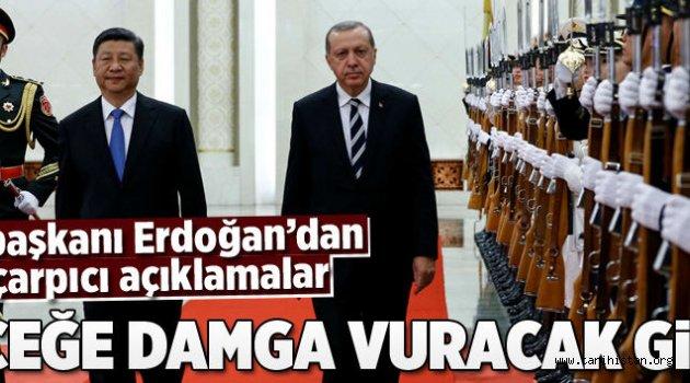 Cumhurbaşkanı Erdoğan'dan Çin'de çarpıcı açıklamalar
