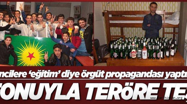 Eğitim diye öğrencileri PKK kampına götürdüler!