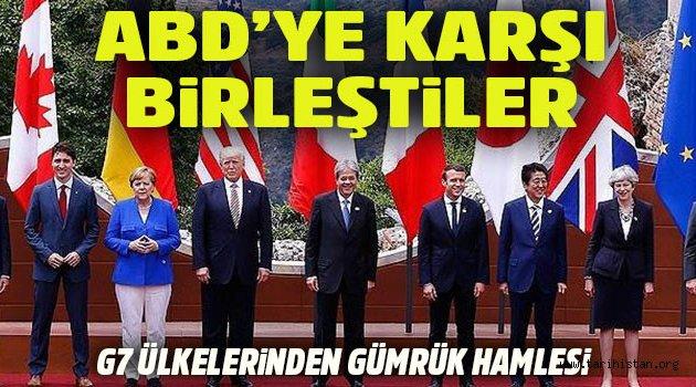 G7 üyesi 6 ülke ABD'ye karşı