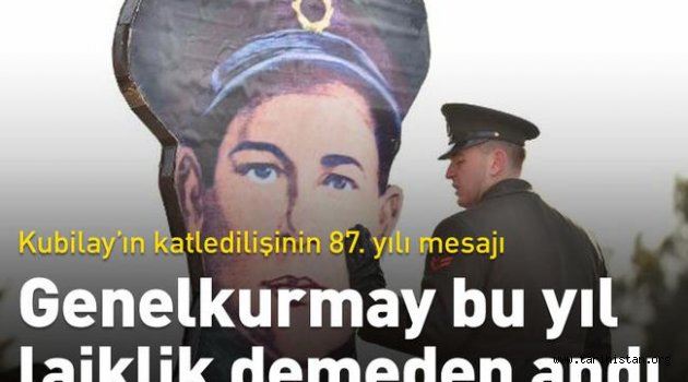 Genelkurmay, Kubilay anmasında bu yıl laikliğe değinmedi