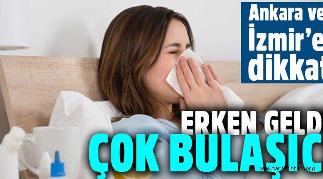Grip virüsü erken geldi