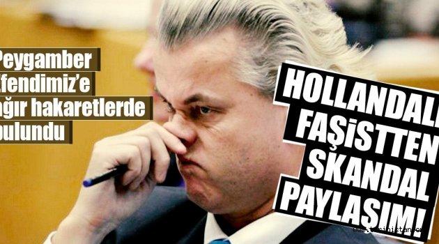 Hollandalı faşist liderden skandal paylaşım!