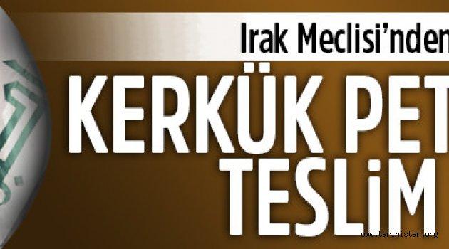 Irak Meclisi'nden Kerkük petrolleri için karar: Teslim edin