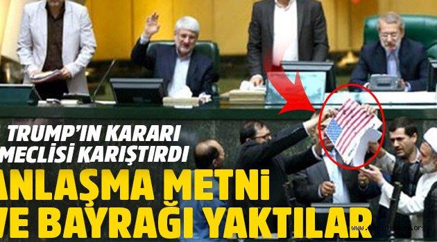 İran Meclisi ABD Bayrağı Yaktı!