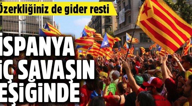 İspanya iç savaşın eşiğinde