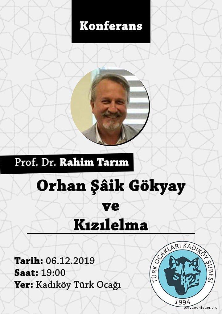 Kadıköy Türk Ocağı'nda Orhan Şâik Gökyay anılacak