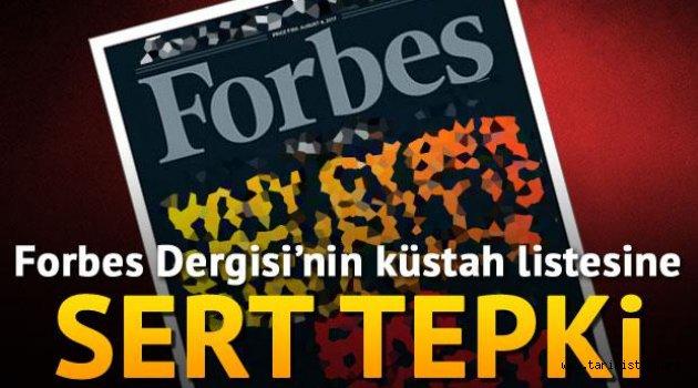 Kültür ve Turizm Bakanlığı'ndan Forbes Dergisi'ne tepki