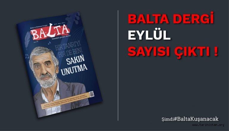 Balta Dergi Eylül Sayısı Çıktı!