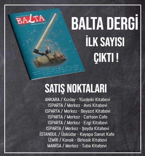 Balta Dergisi İlk Sayısıyla Yayın Hayatına Başladı
