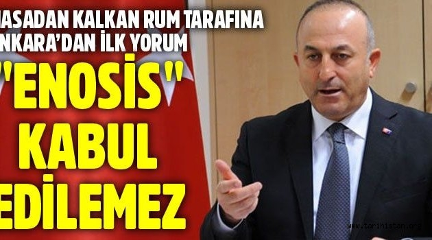 'Enosis' Türkiye ve Kıbrıs Türkü için kabul edilemez