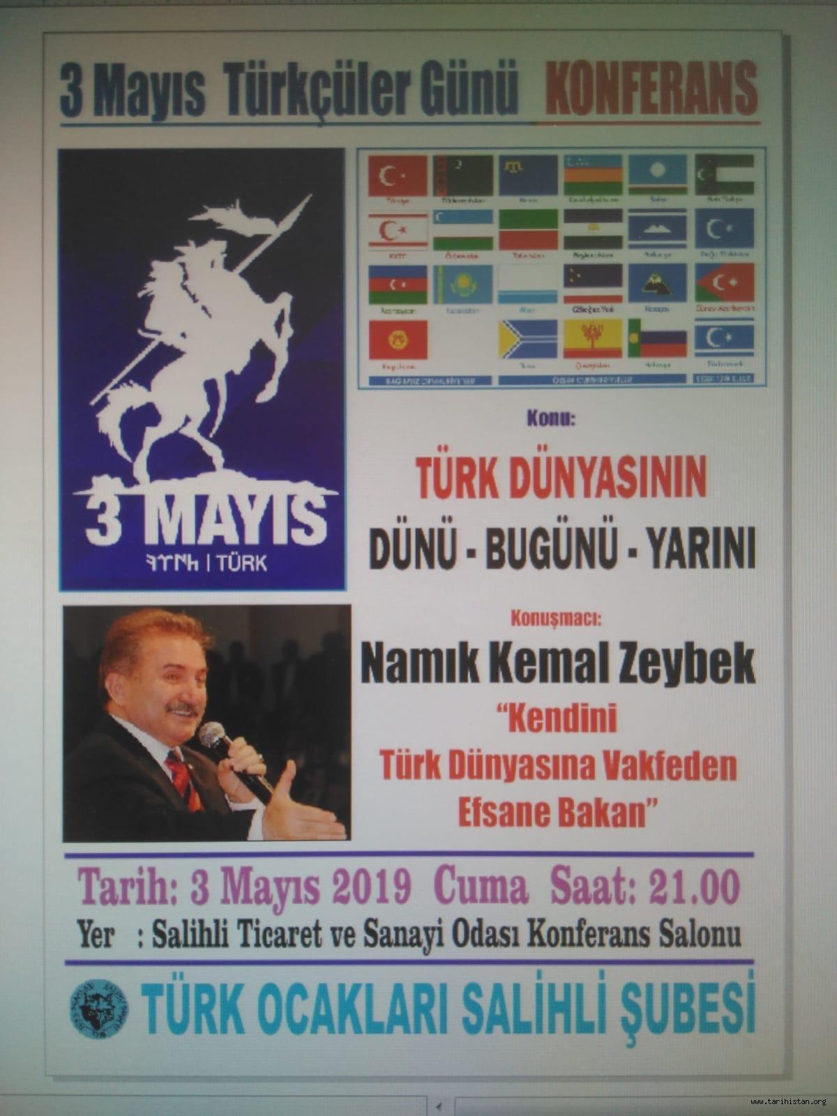 Salihli'de 3 Mayıs Türkçülük Günü Programı