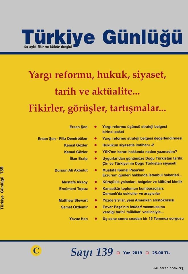 Türkiye Günlüğü Dergisinin yeni sayısı çıktı