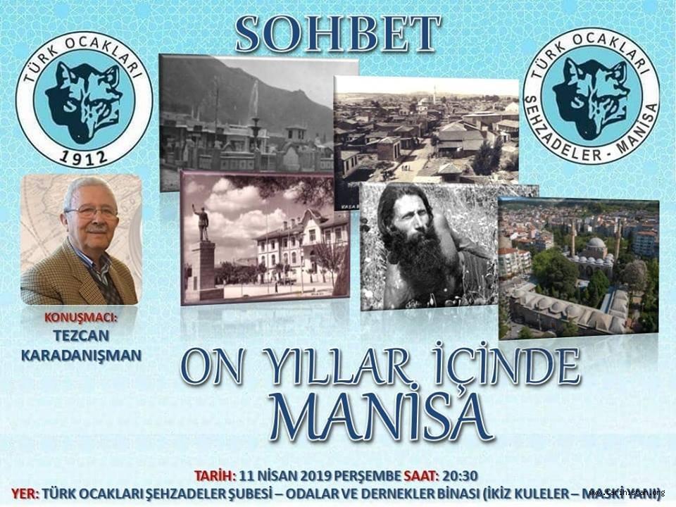 """Manisa Şehzadeler Türk Ocağında """"Manisa"""" konuşulacak"""