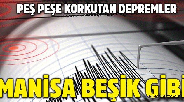 Manisa'da depremler devam ediyor