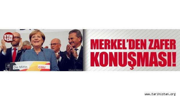 Merkel'den zafer konuşması