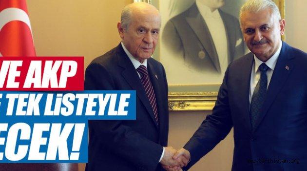 MHP ve AKP Seçime Tek Listeyle girecek