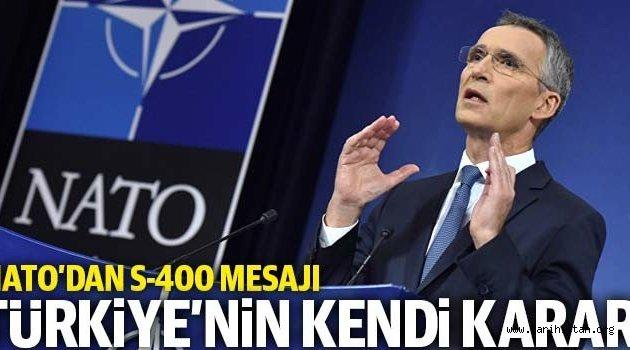 NATO Genel Sekreteri Stoltenberg: S-400 Türkiye'nin kararı